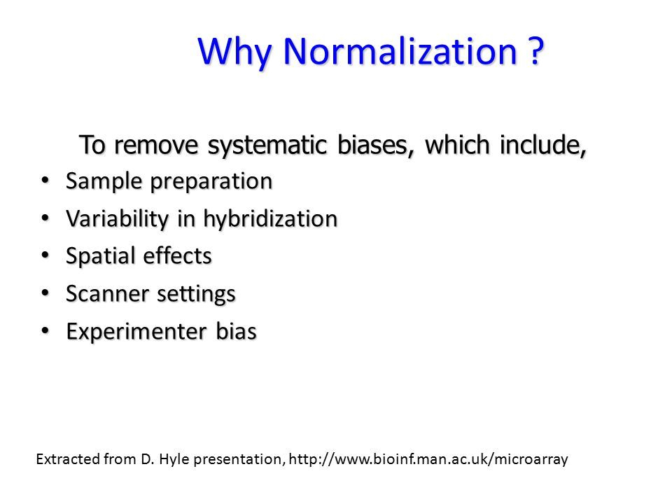 Why Normalization .