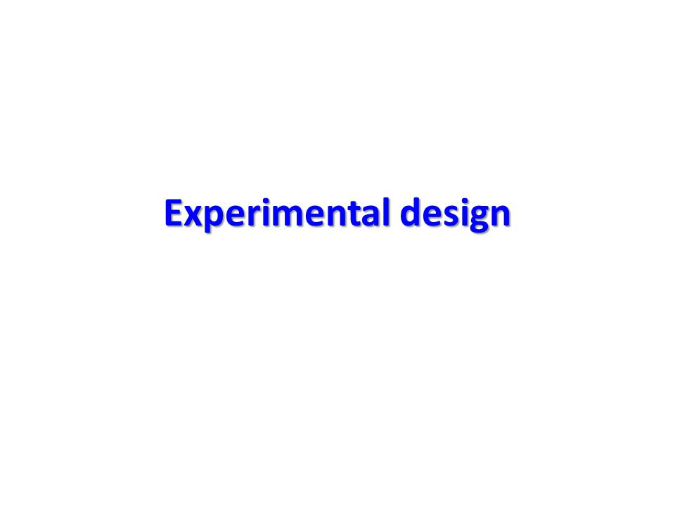 Recognition and statement of the problem The problem should be specified enough and the conditions under which the experiment will be performed should be understood so the appropriate design for the experiment can be selected.