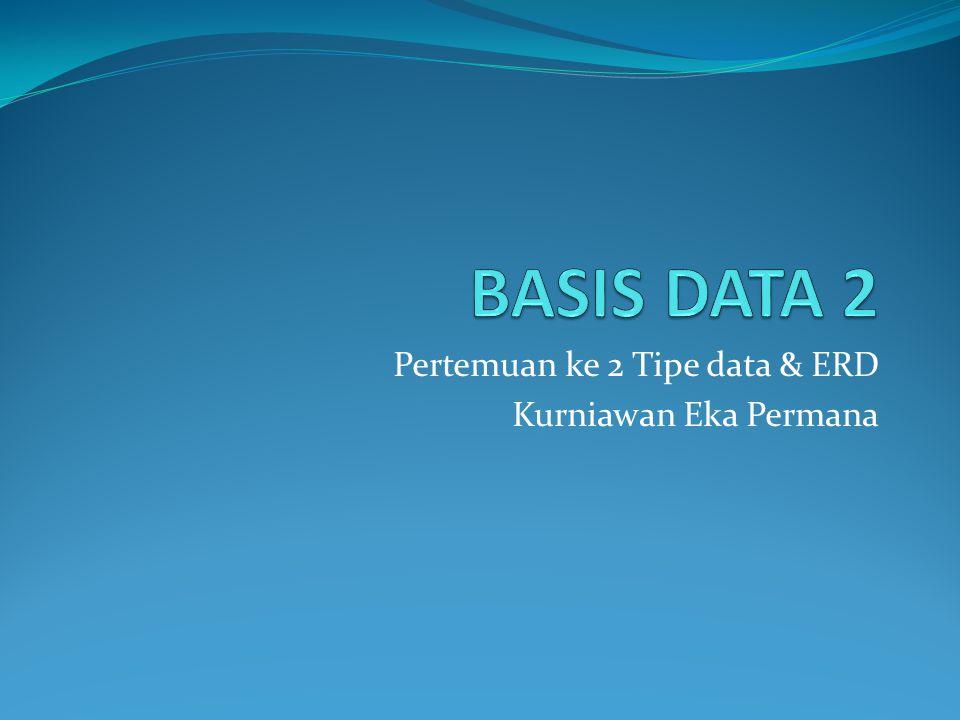 Pertemuan ke 2 Tipe data & ERD Kurniawan Eka Permana