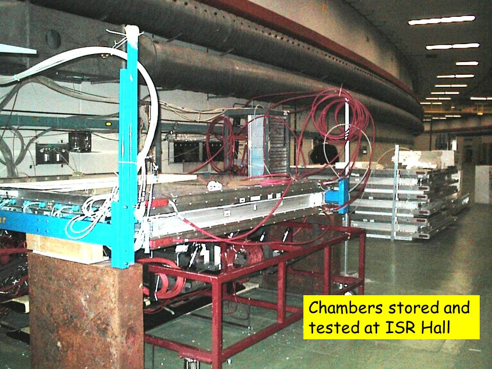 25 Chambers stored and tested at ISR Hall
