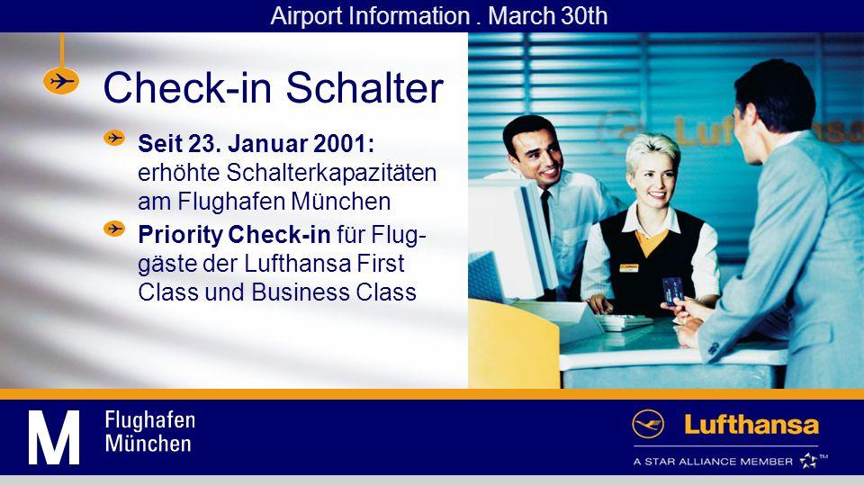 Check-in Schalter Seit 23.