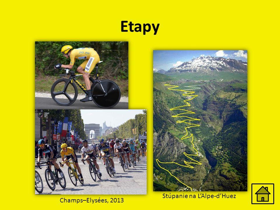 Etapy Stúpanie na L'Alpe-d'Huez Champs–Elysées, 2013
