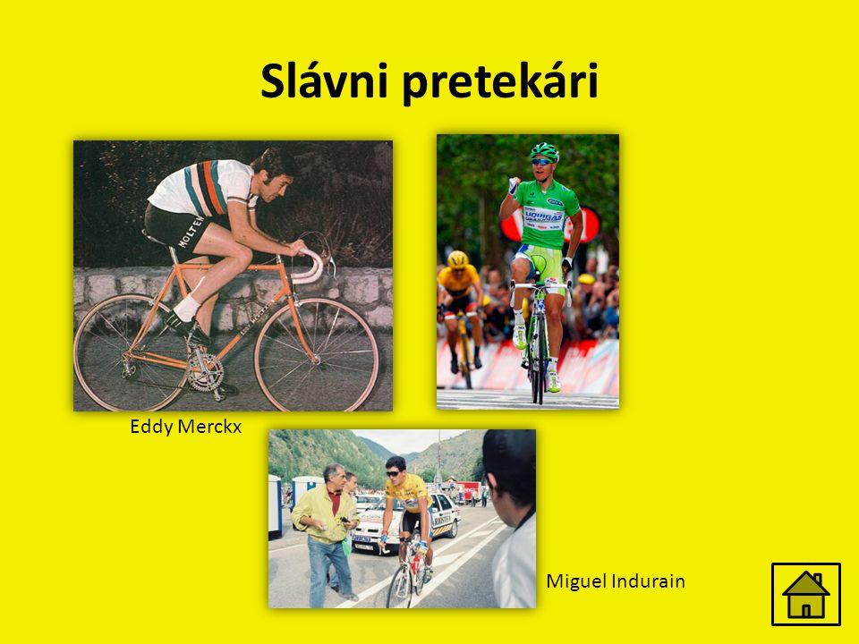 Slávni pretekári Eddy Merckx Miguel Indurain