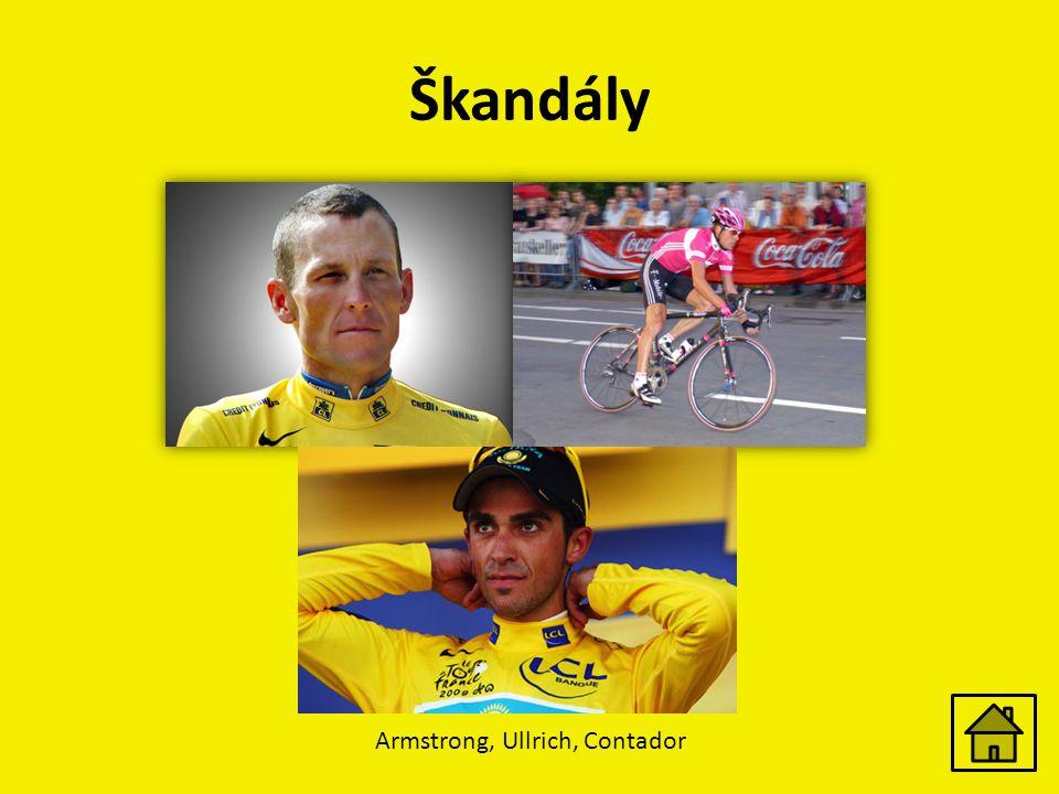 Škandály Armstrong, Ullrich, Contador