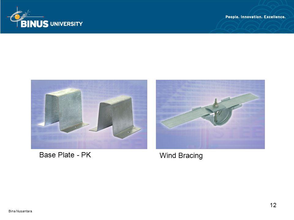 Bina Nusantara 12 Base Plate - PK Wind Bracing