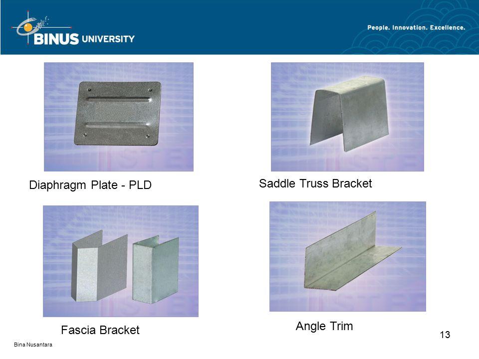 Bina Nusantara 13 Diaphragm Plate - PLD Saddle Truss Bracket Fascia Bracket Angle Trim
