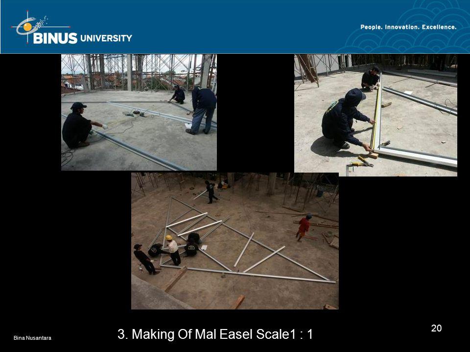 Bina Nusantara 20 3. Making Of Mal Easel Scale1 : 1