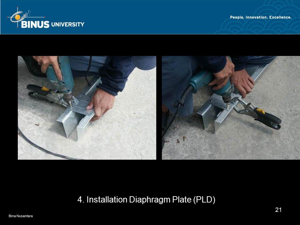 Bina Nusantara 21 4. Installation Diaphragm Plate (PLD)