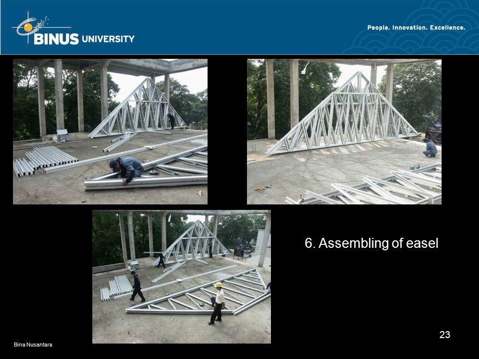 Bina Nusantara 23 6. Assembling of easel