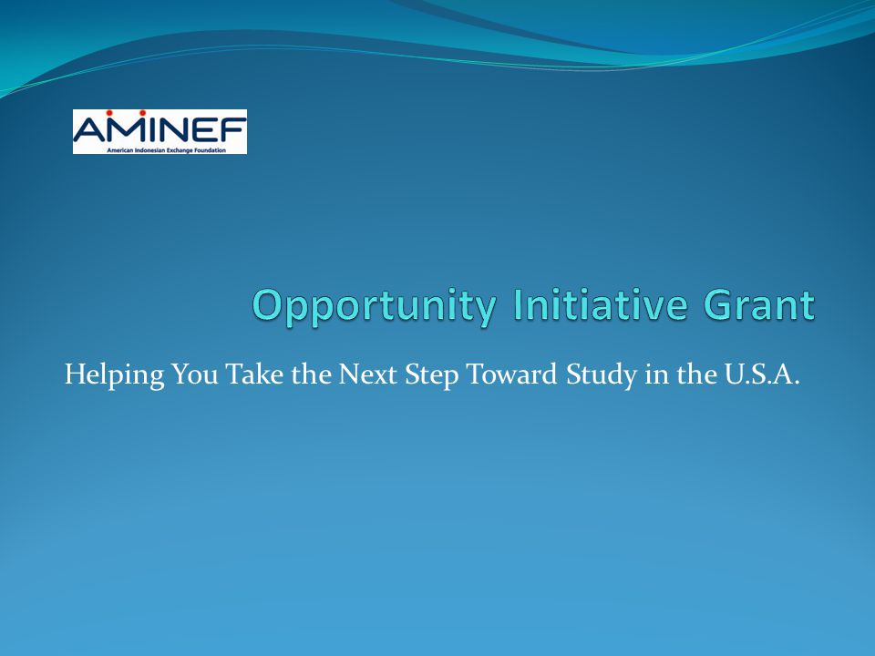 Helping You Take the Next Step Toward Study in the U.S.A.