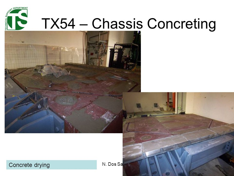 N. Dos Santos11 TX54 – Chassis Concreting Concrete drying