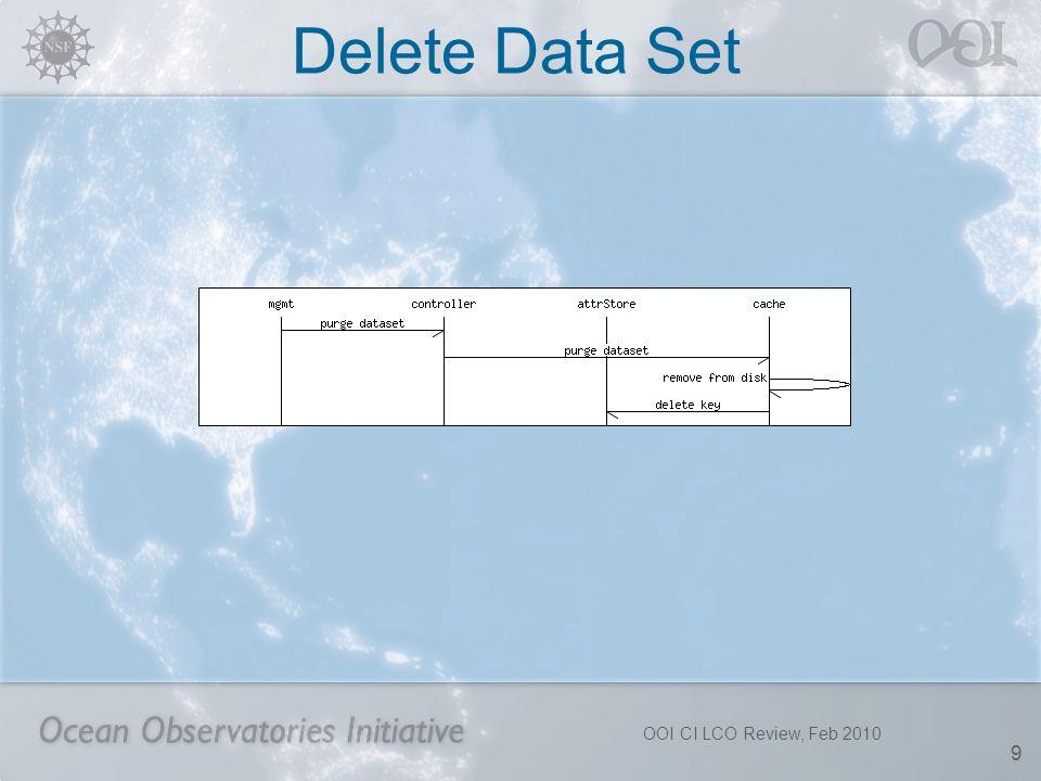 Delete Data Set OOI CI LCO Review, Feb 2010 9