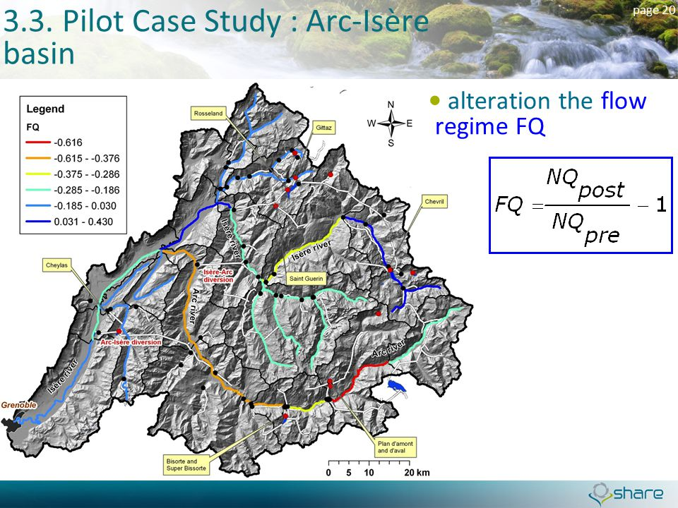 page 20 3.3. Pilot Case Study : Arc-Isère basin alteration the flow regime FQ