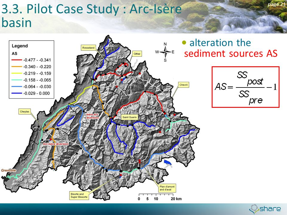 page 21 3.3. Pilot Case Study : Arc-Isère basin alteration the sediment sources AS