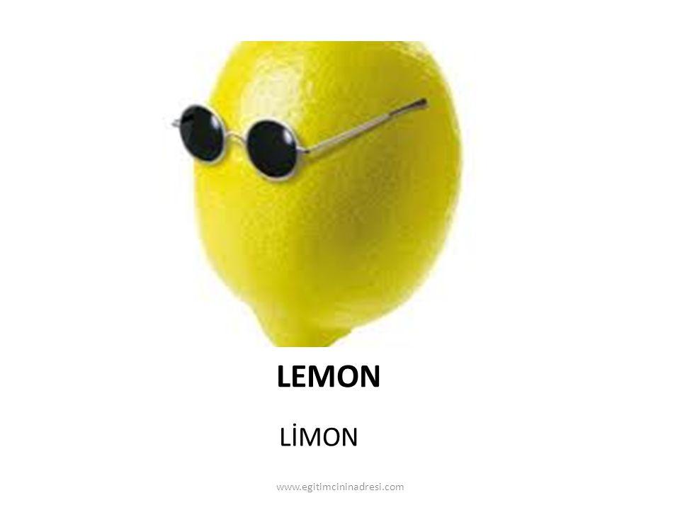 LEMON LİMON www.egitimcininadresi.com