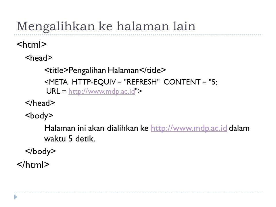 Mengalihkan ke halaman lain Pengalihan Halaman http://www.mdp.ac.id Halaman ini akan dialihkan ke http://www.mdp.ac.id dalam waktu 5 detik.http://www.mdp.ac.id
