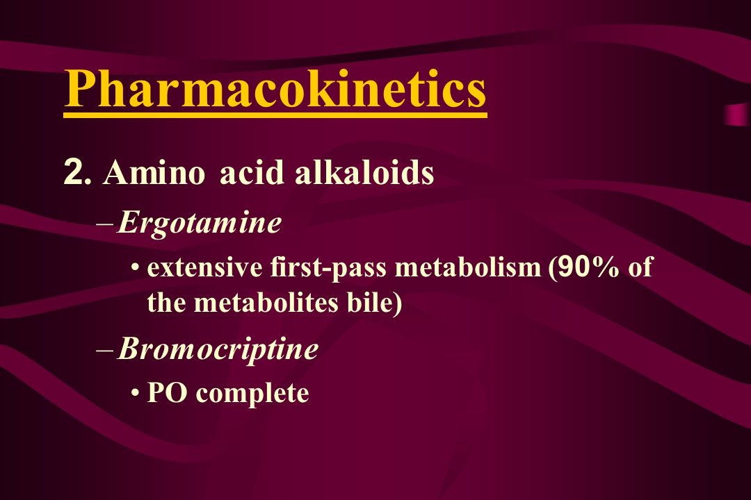 Pharmacokinetics 2.