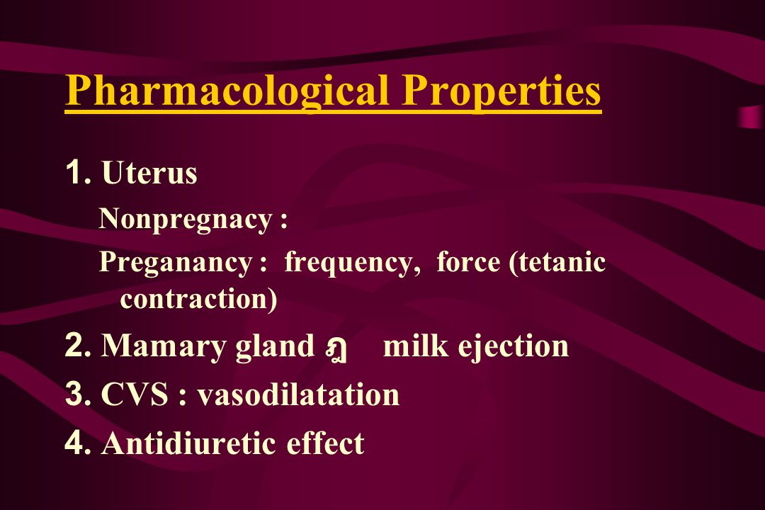 Pharmacological Properties 1.