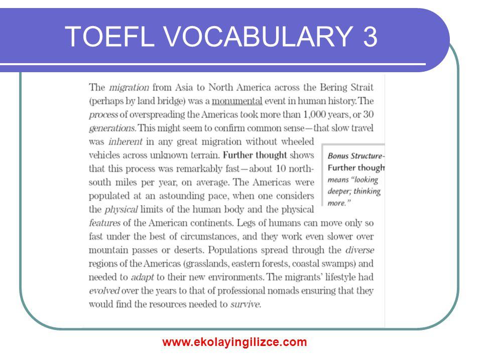 TOEFL VOCABULARY 3