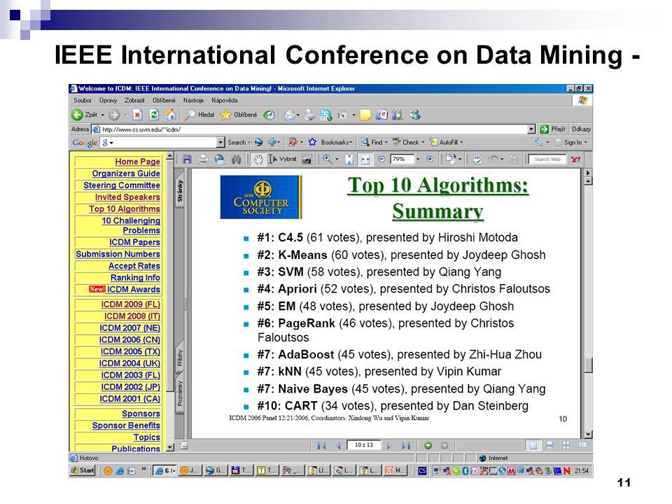 11 IEEE International Conference on Data Mining - www.cs.uvm.edu/~icdm/