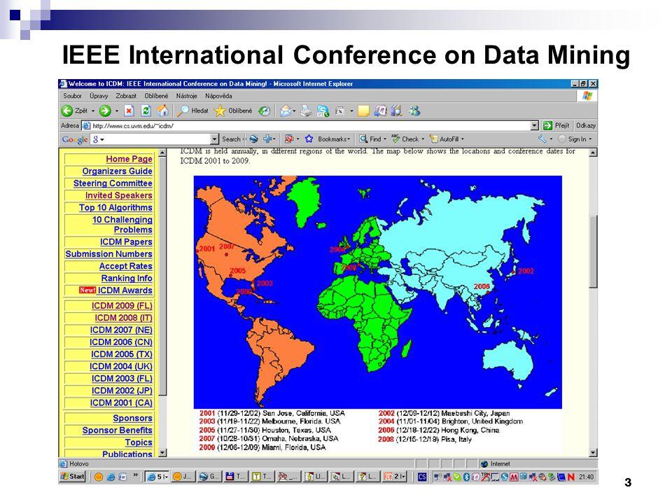 3 IEEE International Conference on Data Mining www.cs.uvm.edu/~icdm/