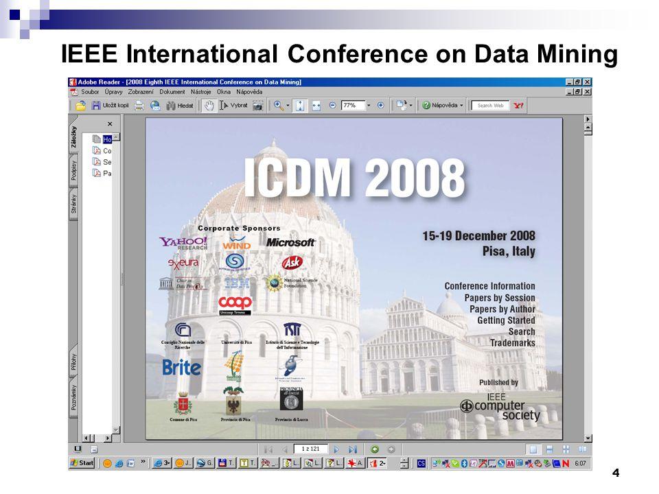 4 IEEE International Conference on Data Mining www.cs.uvm.edu/~icdm/