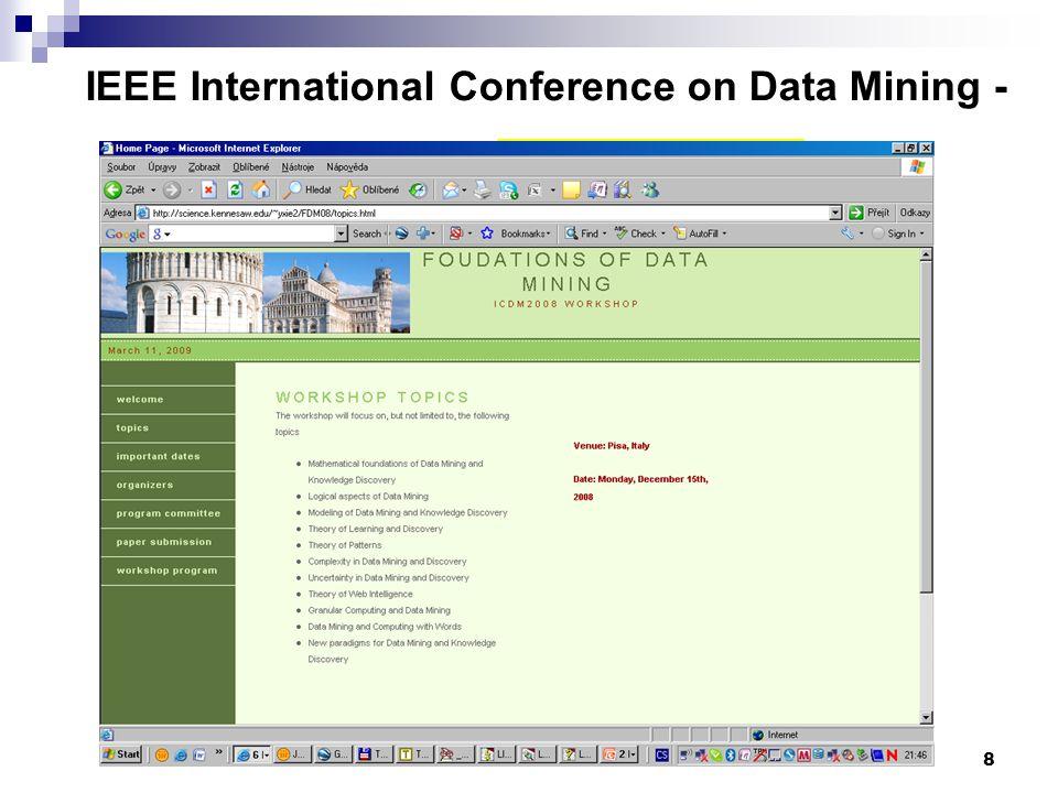 8 IEEE International Conference on Data Mining - www.cs.uvm.edu/~icdm/