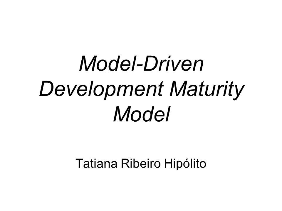 Roteiro Projeto MODELWARE WP2 Model-Driven Development Maturity Model Outros Modelos –Kleppe and Warmer's Modelling Maturity Levels –IBM MDD Maturity Matrix Conclusão Referência