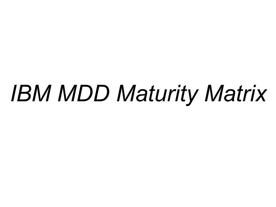 IBM MDD Maturity Matrix