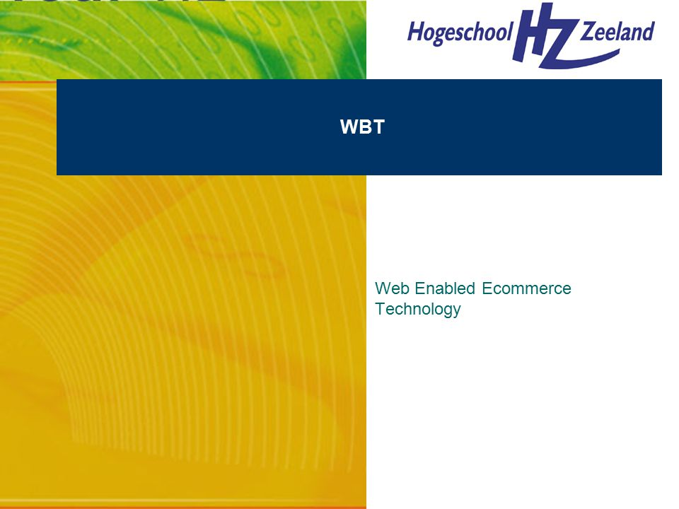 WBT Web Enabled Ecommerce Technology