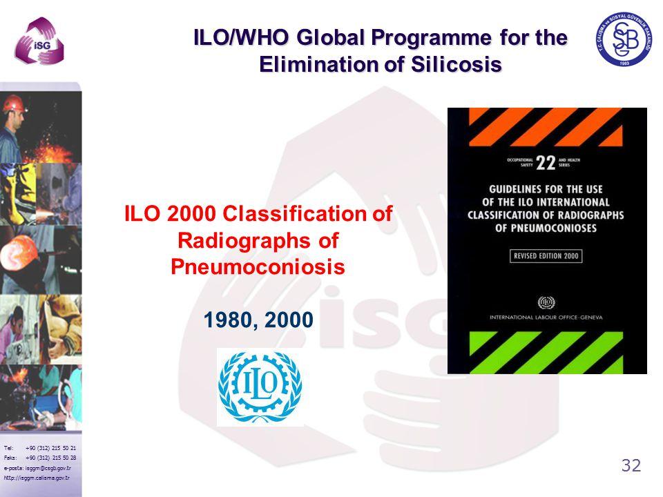 32 Tel: +90 (312) 215 50 21 Faks: +90 (312) 215 50 28 e-posta: isggm@csgb.gov.tr http://isggm.calisma.gov.tr ILO/WHO Global Programme for the Eliminat