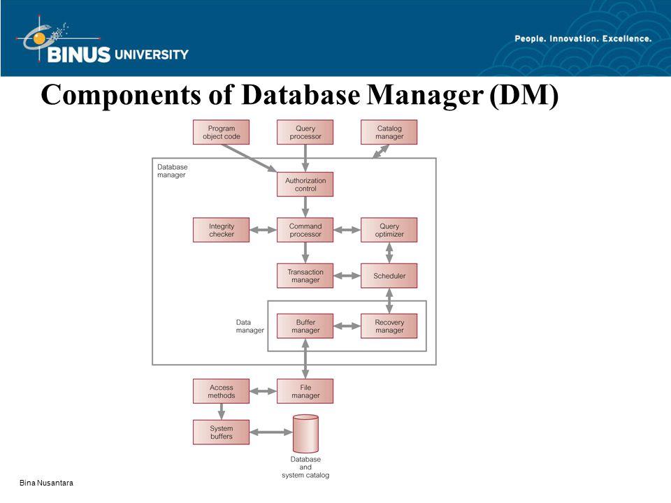 Bina Nusantara Components of Database Manager (DM)