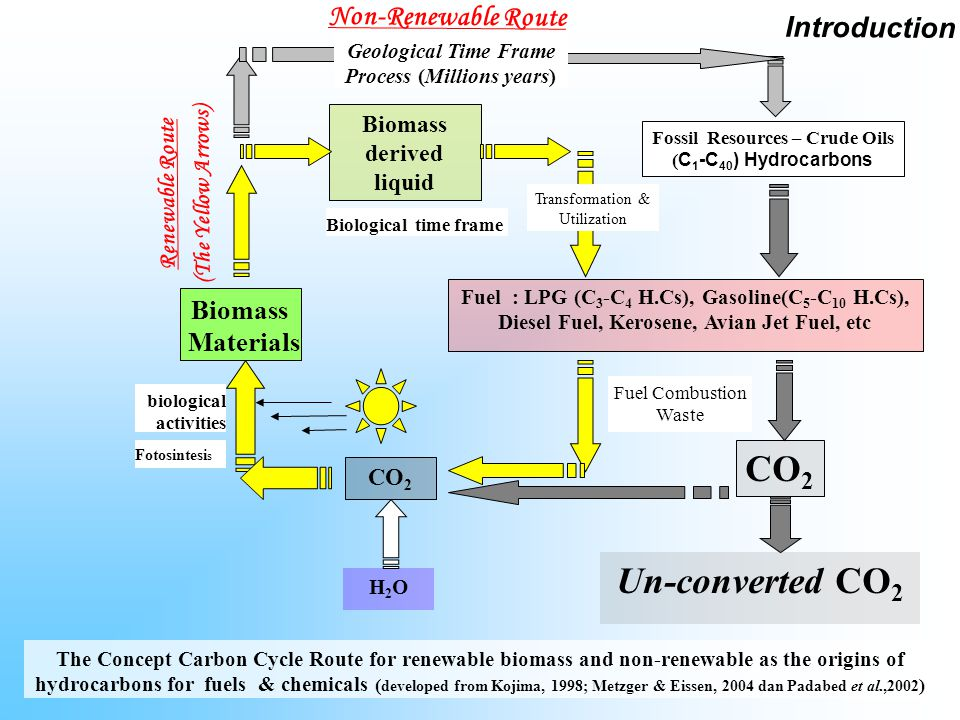 Fossil Resources (Petroleum crude Oil) Refinery Process & Catalytic Cracking Unit (FCC) Biomass Materials Biomass-derived liquid from fermentation Products ( sagu, singkong, tetes tebu/molasses, 80 % Yield Limbah Tandan Kosong Sawit, dll.) Renewable Ethanol Acetone, Butanol C 1 -C 10 Aromatic Compounds  Fuel (Gasohol), ( O.N., RVP)  Petrochemicals Non-renewable Resources A Schematic Diagram of C 1 -C 10 Hydrocarbons Route from the Origin Target Compounds Biomass-Based Technology established ??.