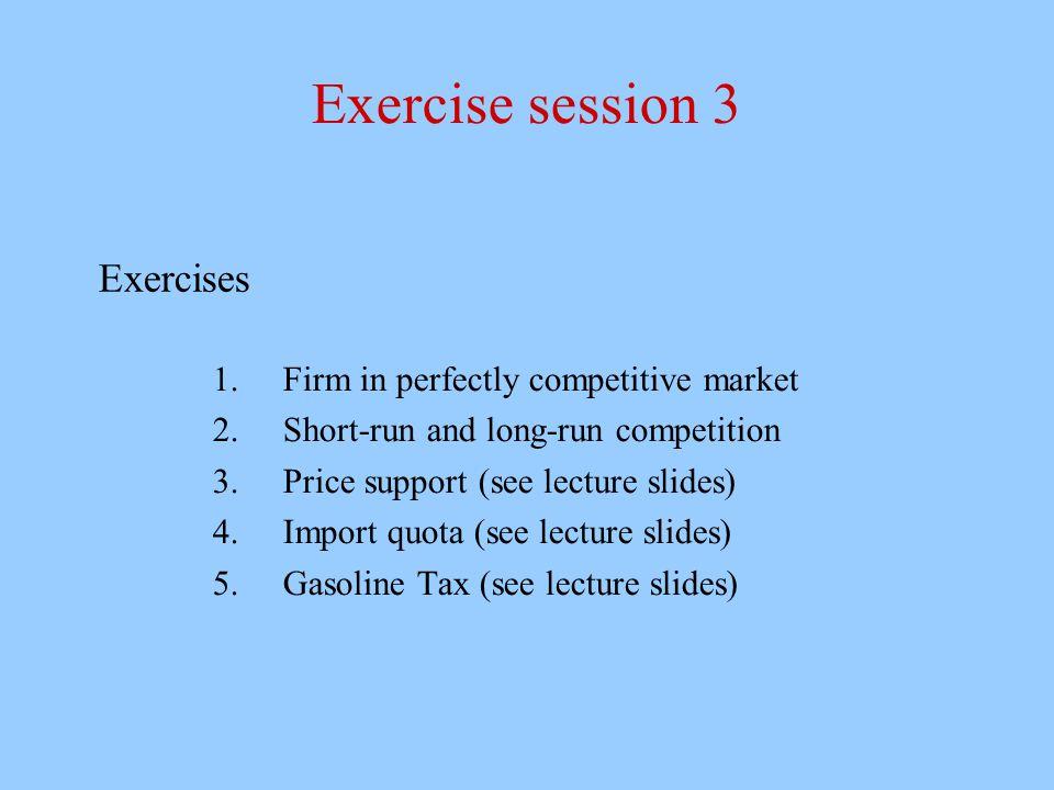 D.Vannoni e M. Piacenza Microeconomia C, A.A. 2007-2008 Esercitazione 3 3 Exercise n.
