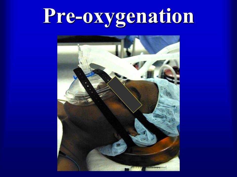 Pre-oxygenation