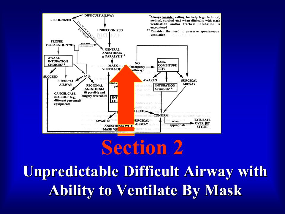 Section 2 Unpredictable Difficult Airway with Ability to Ventilate By Mask