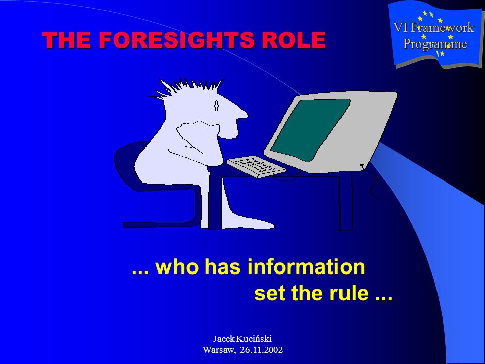 Jacek Kuciński Warsaw, 26.11.2002...... who has information set the rule...