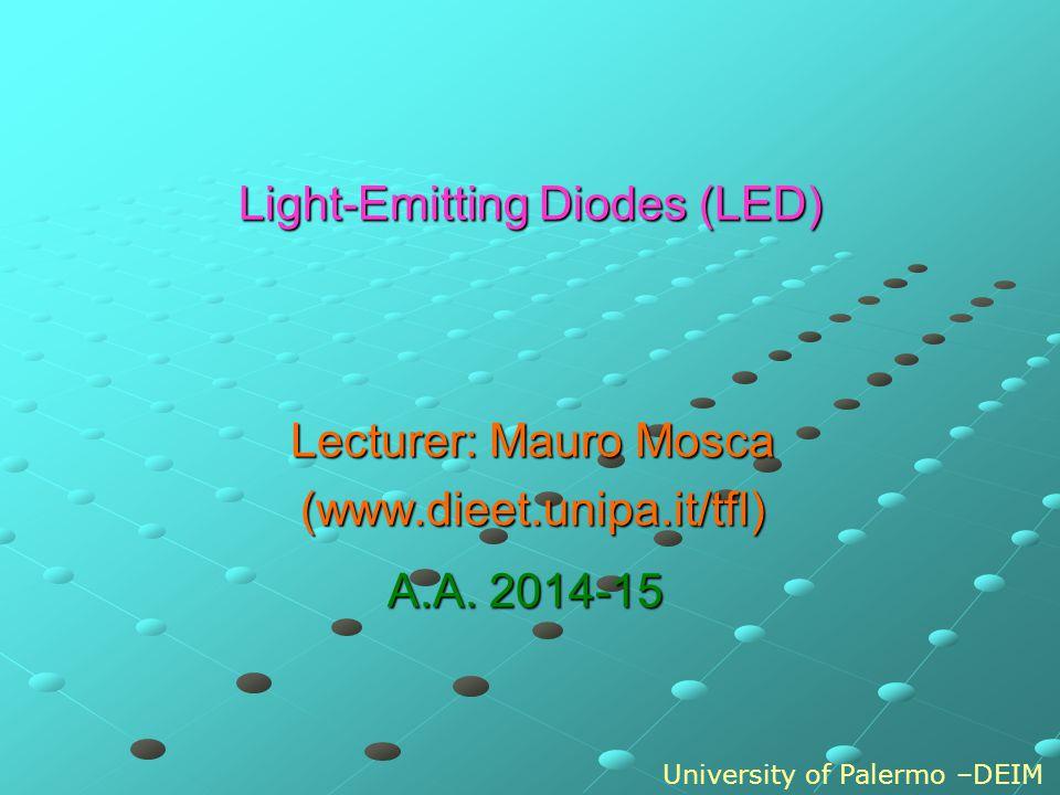 p n ECEC EVEV EFEF EFEF p n V0V0 E C - E V = hc/ LED: injection luminescence