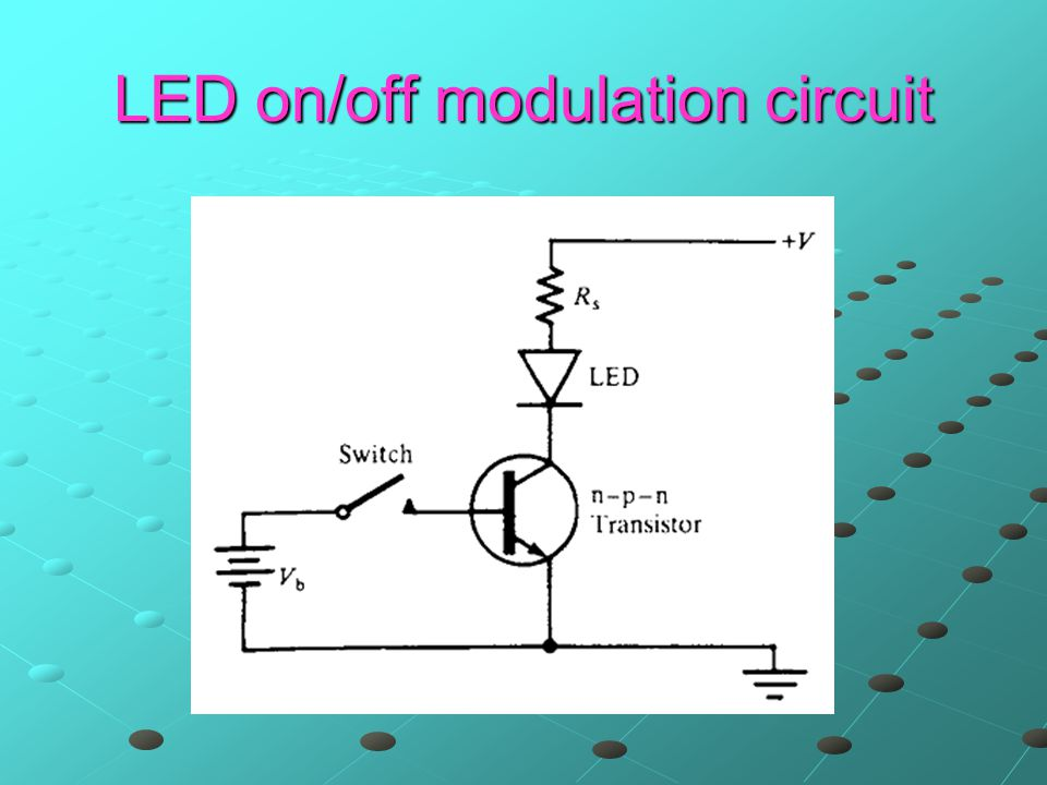 LED on/off modulation circuit