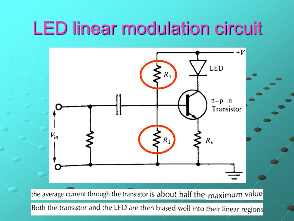 LED linear modulation circuit