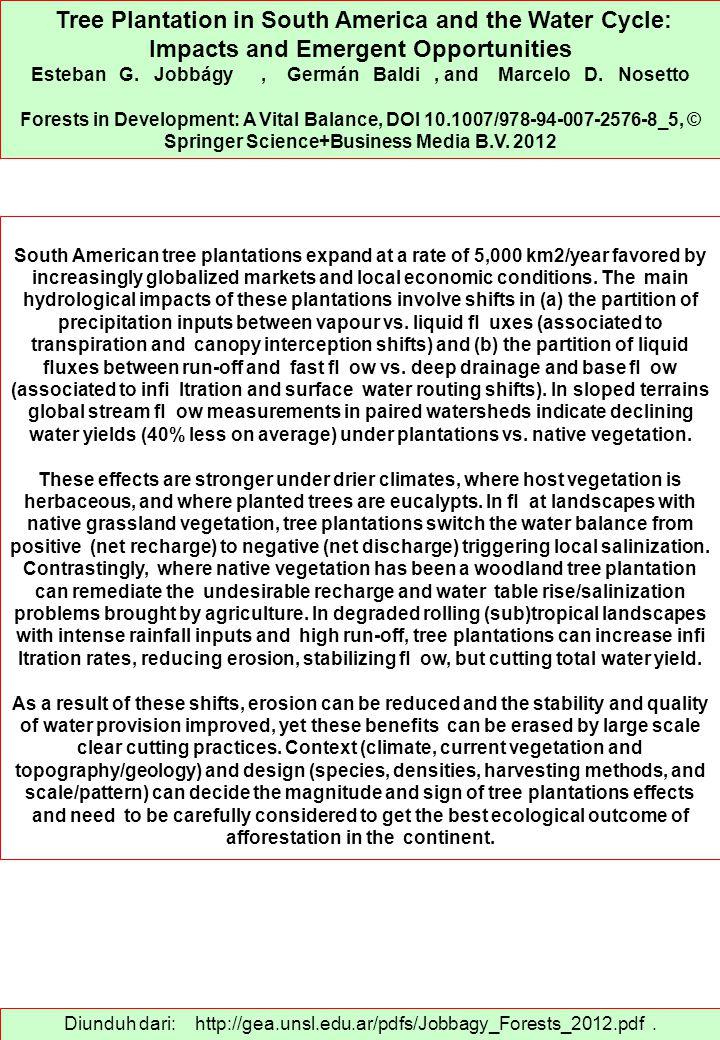Diunduh dari: http://gea.unsl.edu.ar/pdfs/Jobbagy_Forests_2012.pdf.