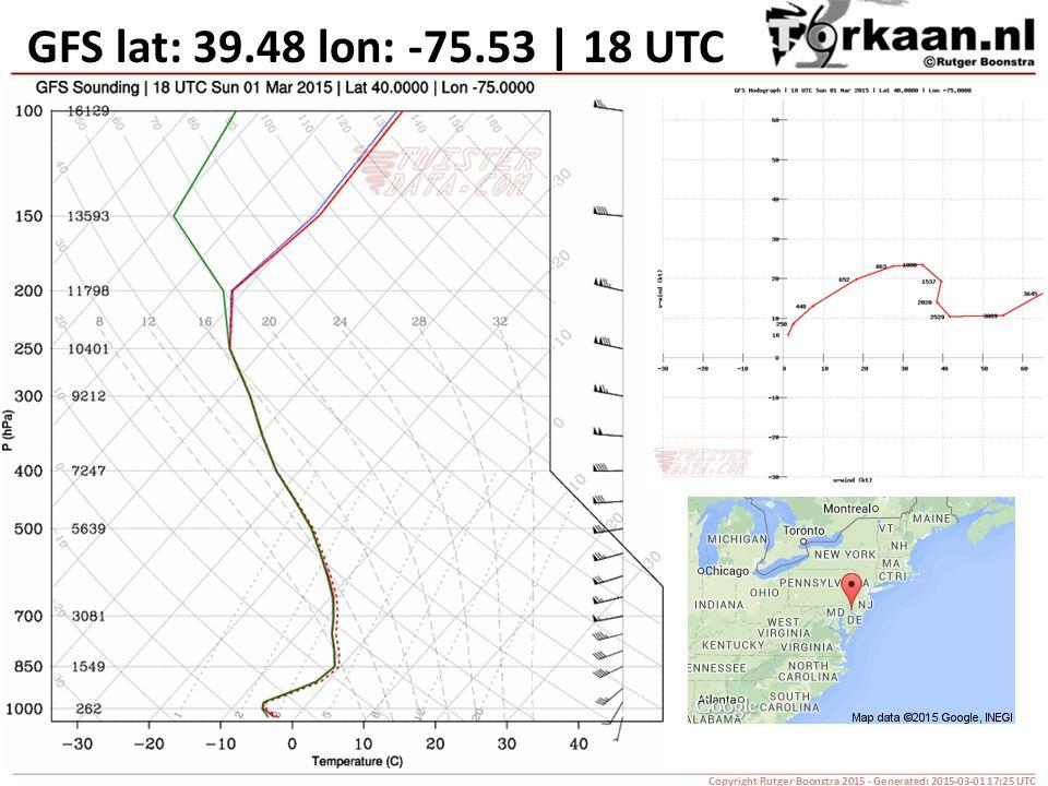 GFS lat: 39.48 lon: -75.53 | 18 UTC Copyright Rutger Boonstra 2015 - Generated: 2015-03-01 17:25 UTC