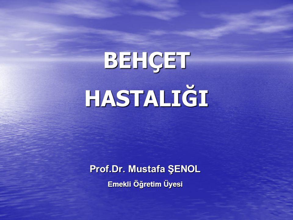 BEHÇET HASTALIĞI Prof.Dr. Mustafa ŞENOL Emekli Öğretim Üyesi