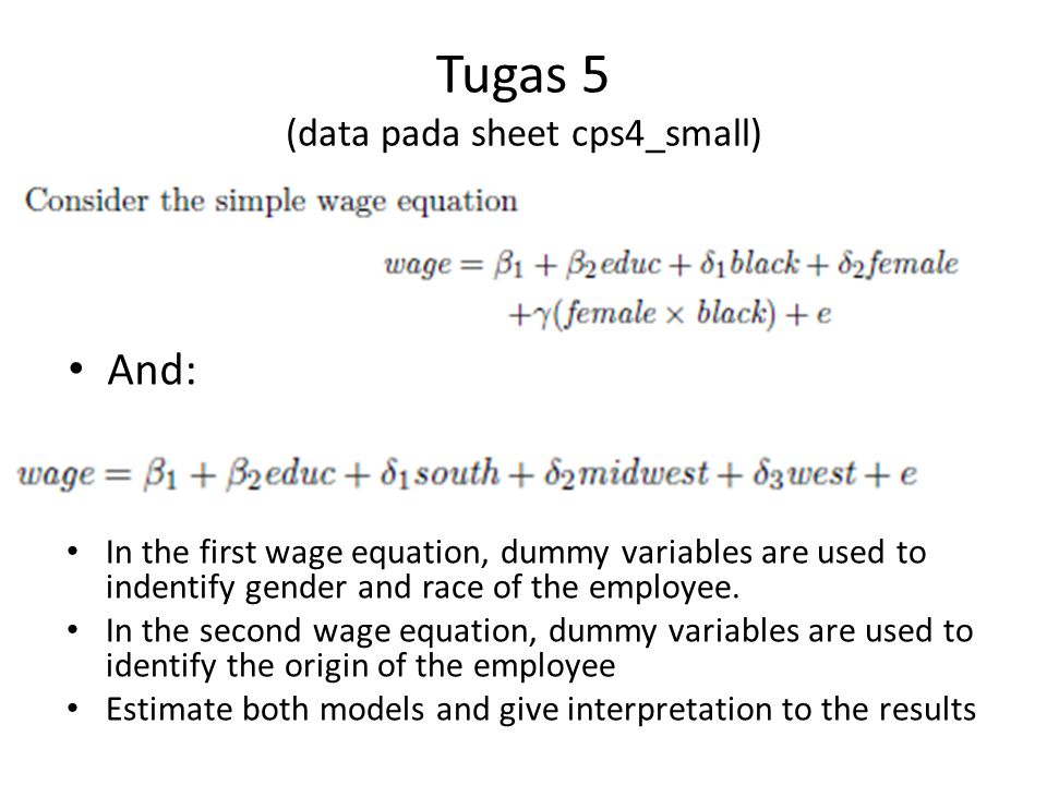 Tugas 6 (data pada sheet truffles) Indentify the type of the simultaneous equation model (identified, under-identified or over-identified Estimate the model using a proper technique Give interpretation!