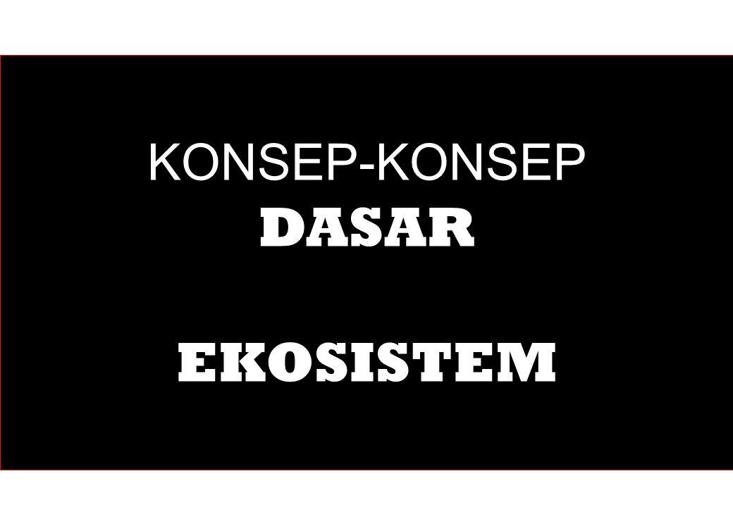 KONSEP-KONSEP DASAR EKOSISTEM