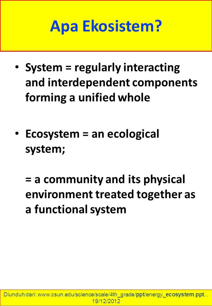 Apa Ekosistem.