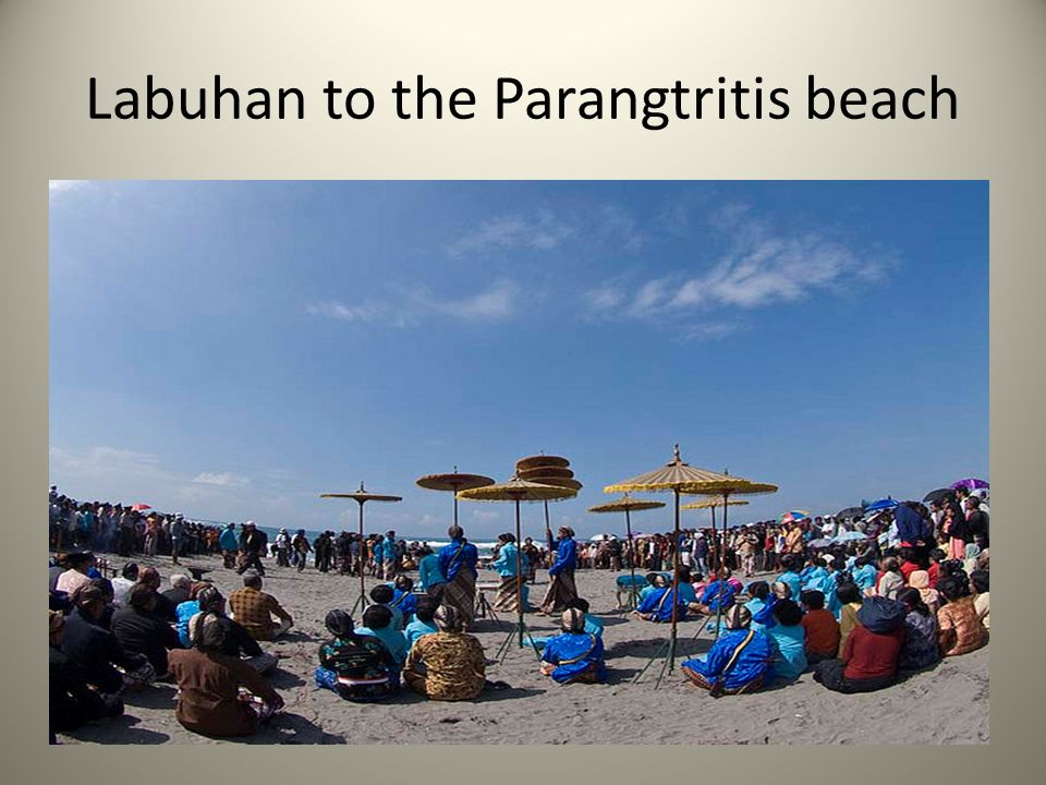 Labuhan to the Parangtritis beach