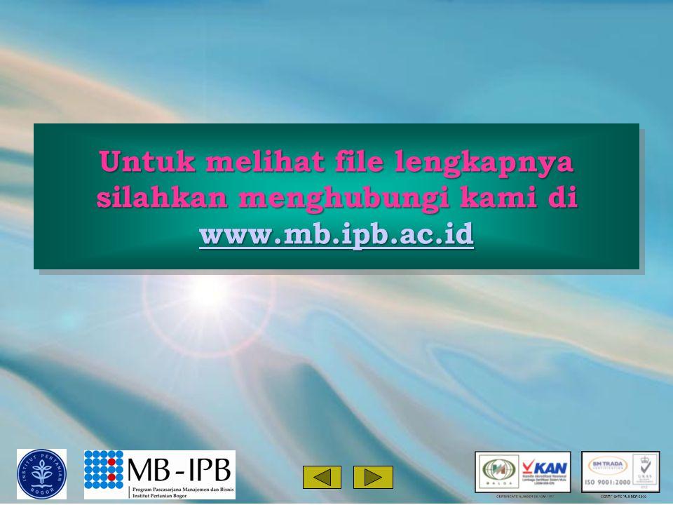Untuk melihat file lengkapnya silahkan menghubungi kami di www.mb.ipb.ac.id www.mb.ipb.ac.id Untuk melihat file lengkapnya silahkan menghubungi kami di www.mb.ipb.ac.id www.mb.ipb.ac.id