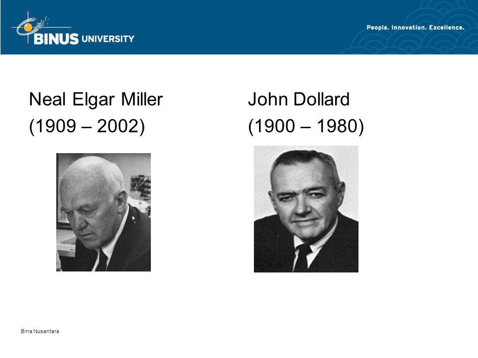 Neal Elgar Miller (1909 – 2002) John Dollard (1900 – 1980) Bina Nusantara