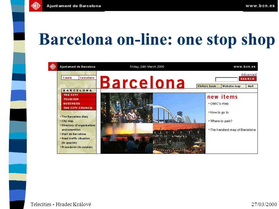 Telecities - Hradec Králové27/03/2000 Barcelona on-line: one stop shop
